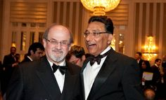 Salman Rushdie with Vinod Dham. Salman is author of eleven novels including The Satanic Verses. Vinod won both the Jury and People's Choice Award winner in the  Science and Technology category.