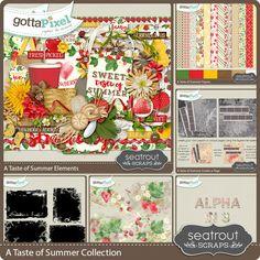 A Taste of Summer Bundled Collection :: Bundles :: Kits :: Gotta Pixel Digital Scrapbook Store by Seatrout Scraps