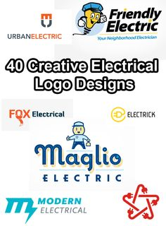 40 Creative Electrical Logo Designs See Full Collection