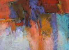 Cascade 18x24 pastel by Debora L. Stewart