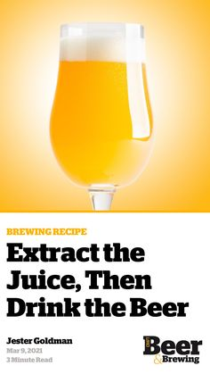 Brewing Recipes, Homebrew Recipes, Beer Recipes, Brew Your Own Beer, Home Brewing Beer, How To Make Beer, Craft Beer, Brewery, Juice