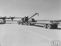 Federal C2 wrecker and 40 foot trailer, Smyrna Air Base, 1942. Besides airframe transport, the C2s were also used for lifting aircraft engines and tail sections for repair or replacement