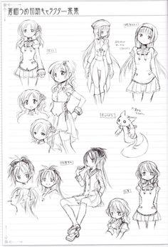 Madoka Magica characters, early prototype