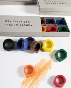 crayon rings by timothy liles. like the packaging too...
