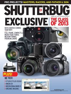 Shutterbug is the leading photo and imaging magazine for advanced amateur and professional photographers, and all who relate to their photography as a meaningful part of their lives. Inside every monthly issue you'll get lighting pointers, pro studio tips, test reports, equipment reviews... and much more! Written by photographers, for photographers, Shutterbug is dedicated to helping photographers enhance their creative potential. Photography Reviews, Photography Ideas, Photo Tutorial, Father And Son, Epson, Professional Photographer, Magazine, Pointers, Digital