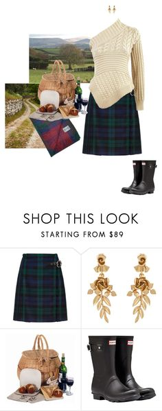 """Picnic"" by mrs-snow ❤ liked on Polyvore featuring Oscar de la Renta, Bambeco, Hunter and country"