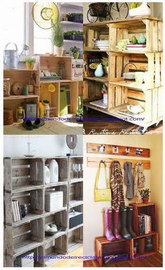 Recicla cajas de fruta de madera