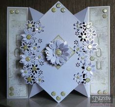 Tatty Puds Encaustic Art & Craft Journal: Tutorial - Diamond Fold Card with Die'Sire Edge'ables