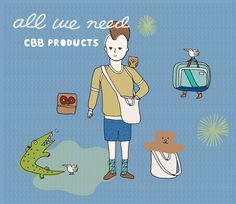 CBB Products / Illustrations by O.