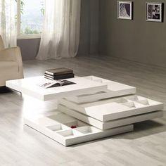 Belaya Coffee Table + Storage #Multi