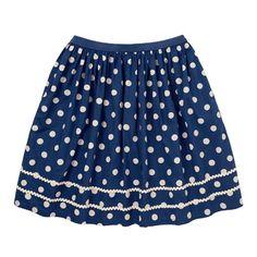 Button Spot Skirt