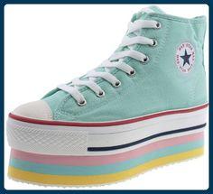 Maxstar  CN9-8H,  Damen Sneaker Low-Tops , Grün - Mintgrün - Größe: 39 - Sneakers für frauen (*Partner-Link)