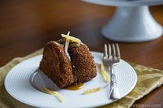 Applesauce Ginger Cake with Maple Glaze #Vegan #VeganHolidayRecipes