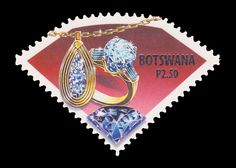Cool stamp! #Botswana #diamond