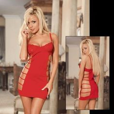 Online Shop Newly Design Hot Selling Red Slinky Lace Cutout Dress Sexy Underwear Sexy Lingerie|Aliexpress Mobile