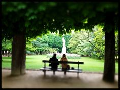What is it about park benches in Paris? Shot with my trusty iPhone. Kalebra Kelby