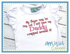 Daddy Finger Applique Design