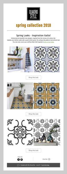 THE NEW Inspirations for 2018; floor stickers; tile decals; vinyl floor tiles; floor paper; kitchen backsplash; diykitchen