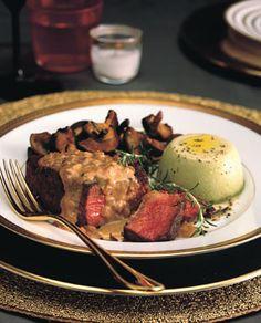 Beef Tenderloin Steaks with Mustard-Cognac Sauce .... New Years Dinner