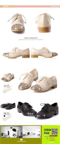 innovative design c1932 3a7a9 Moda Vintage lentejuelas ronda dedo del pie zapatos planos para mujer  Casual confort Lace Up de
