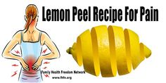 lemonpeel recipe for pain