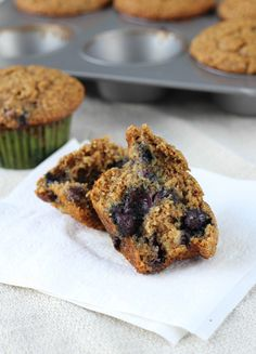 The Best Blueberry Banana Bran Muffins EVER! I made this batch with raisins, but next time I'll be using blueberries. These are the most moist bran muffins I've ever had! Fiber Muffin Recipe, Muffin Recipes, Blueberry Bran Muffins, Blue Berry Muffins, Nutella, Oreo, Bowls, Zucchini, All Bran
