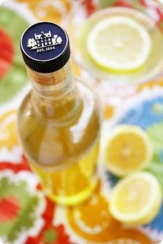 Homemade Limoncello - very nice to sip straight - to use in a champagne cocktail - great with iced tea too.