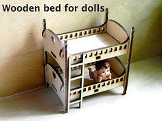 Wooden cot for dolls designer of plywood children's toy