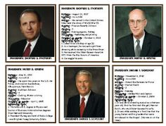 Apostle Cards - Have pic with facts about each apostle like birthday, when ordained, hobbies, etc.