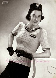 The   Vintage   Pattern   Files: 1930's Knitting - White Wings Jumper