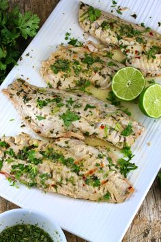 Thai Grilled Fish Recipe Main Dishes with red snapper, cilantro leaves, olive… Grilled Fish Recipes, Grilling Recipes, Seafood Recipes, Cooking Recipes, Cooking Fish, Cooking Ideas, Seafood Meals, Grilling Ideas, Tilapia Recipes