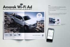 Volkswagen divulga anúncio inovador da Amarok com conexão Wi-Fi