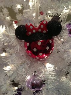 Minnie Mouse Ornament..click picture for more Minnie and Mickey Mouse Ornaments...