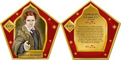 Ron Weasley chocolate frog card