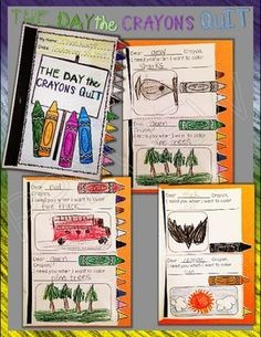 The Day the Crayons Quit: Interactive Flip Book Companion