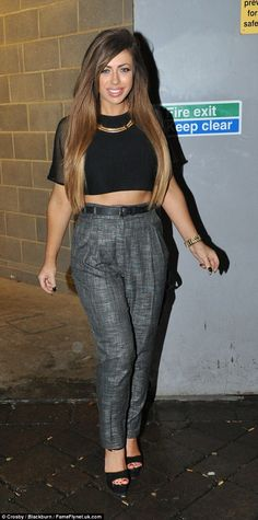 Simple style: The reality starlet was out filming with her Geordie Shore cast mates and it...
