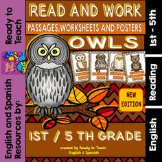 Ready to Teach English and Spanish  from  Owls Read and Work - Reading Passages…