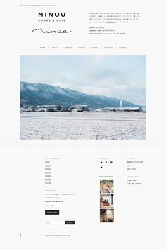 "from the foot of ""MINOU"" mountain ranges Blog Layout, Web Layout, Layout Design, Minimal Web Design, Web Ui Design, Graphic Design, Website Design Inspiration, Creative Poster Design, Web Design Projects"