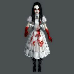 From the video game Alice Madness Returns. This is when Alice is in Hysteria Mode.