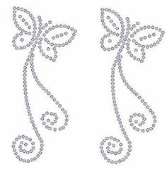 dibujos para bordar en pedreria para niñas Embroidery Cards, Beaded Embroidery, Embroidery Patterns, Hand Embroidery, Tin Can Crafts, Rock Crafts, Rhinestone Art, Butterfly Drawing, Beads Pictures