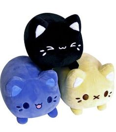 Meowchi Plush Set PreOrder Lemon, Sesame, & Blueberry Source by musicisimmortal Kawaii Room, Kawaii Cat, Japanese Plushies, Plushie Patterns, Softie Pattern, Doll Patterns, Plush Animals, Sock Animals, Clay Animals