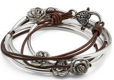 Rosie 2 Strand Leather Wrap Bracelet & Necklace – Lizzy James
