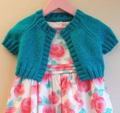 Girl's Turquoise Sparkle Cardi | AllFreeKnitting.com