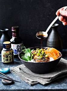 Japanilainen donburi | K-Ruoka  #kana #pokebowl #kulhoruoka #pokekulho Asian Recipes, Sweet Recipes, Poke Bowl, Koti, Japanese Food, Ramen, Food And Drink, Inspire, Beef