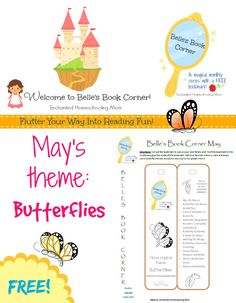 Belle's Book Corner: Butterflies with Free Bookmark from The Enchanted Homeschooling Mom