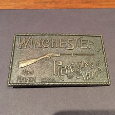Brass belt buckle Brass belt buckle Winchester Repeating Arms, New Haven Conn. Perfect for guys or girls. Accessories Belts