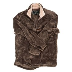 Pebble Pile Pullover 1/2 Zip in Cocoa Brown by True Grit // email xcgal98@gmail.com for 25% off