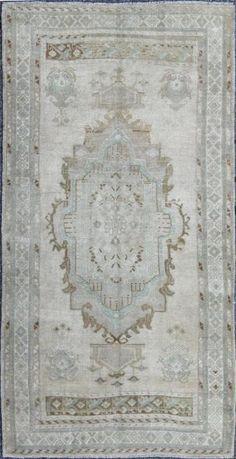 """KEIVAN WOVEN ARTS,   Type :Oushak Origin :Turkey  Size : 5'3""""x10'0""""  Circa :1940"""