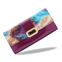 12.25$  Watch now - http://alijvm.shopchina.info/go.php?t=32768405868 - floral pattern women wallet real leather coin purse luxury brand long women wallets genuine leather purses   #buyonlinewebsite