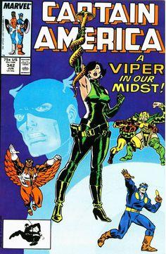 Captain America # 342 by Ron Frenz & Al Milgrom